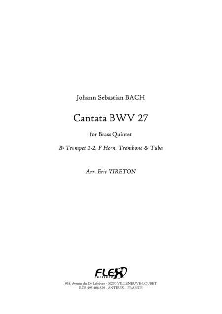 Cantata, BWV 27