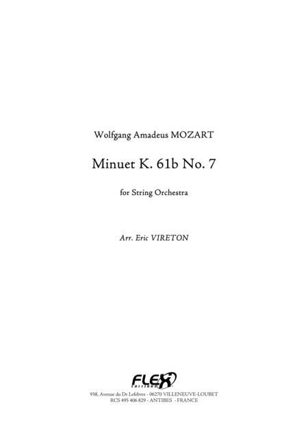Minuet K. 61b No. 7