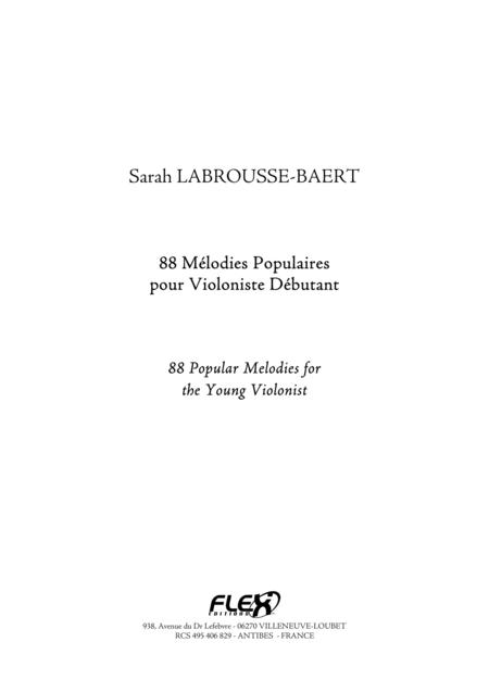88 Popular Melodies for the Young Violonist