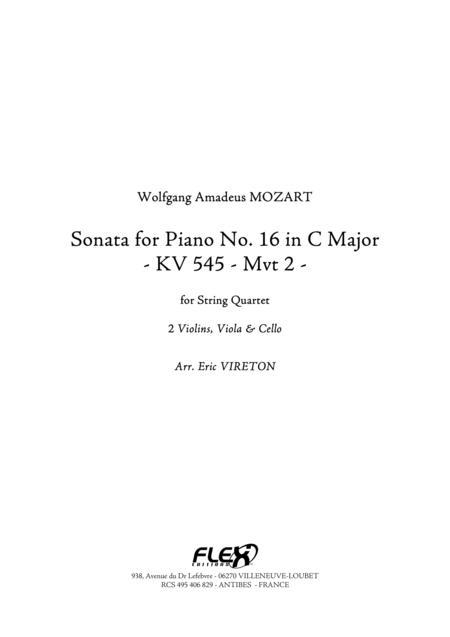 Sonata for Piano No. 16 in C Major KV 545 - Movement 2