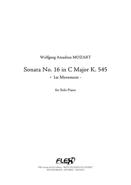 Sonata, No. 16 in C Major K. 545 - Movement 1