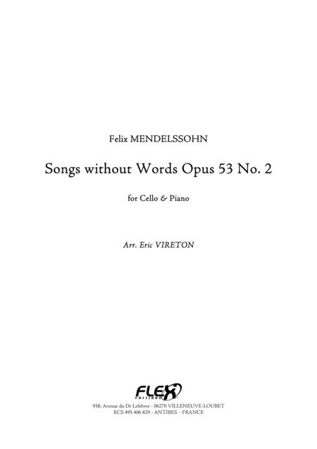 Songs without Words, Op. 53, No. 2