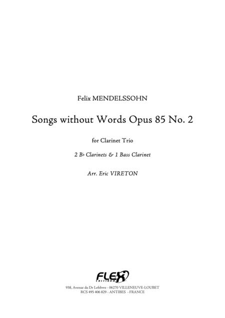 Songs without Words Opus 85 No. 2