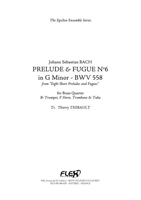 Prelude & Fugue n6 in G minor (BWV 558)