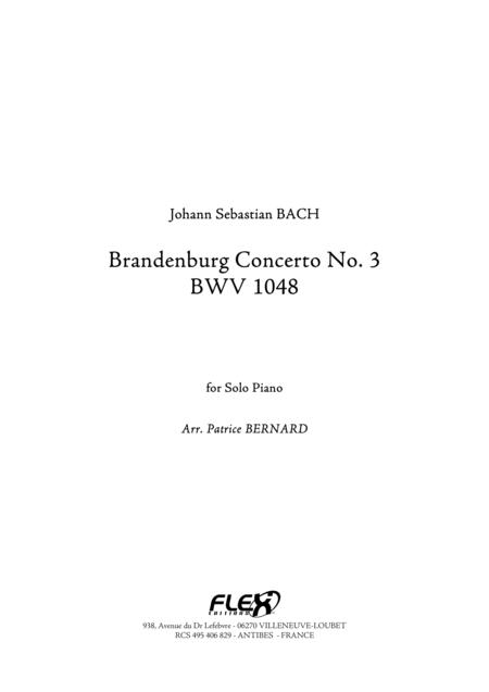 Brandenburg Concerto No.3 - Extracts