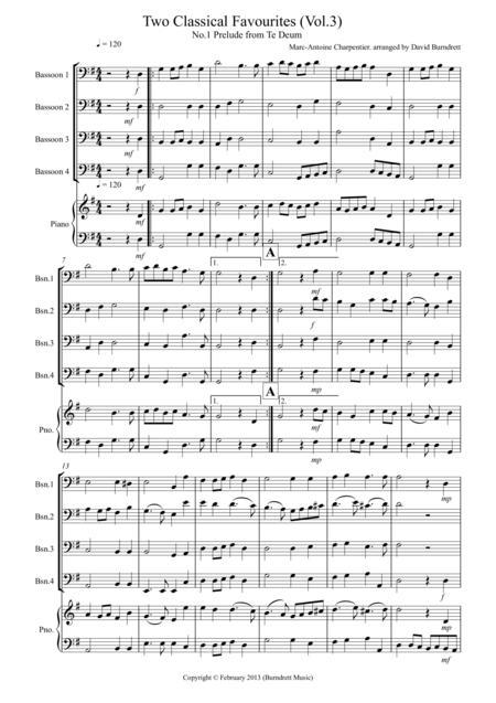 2 Classical Favourites for Bassoon Quartet (volume three)