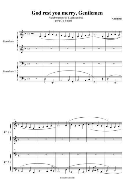 God rest you merry, Gentleman piano 4 hands