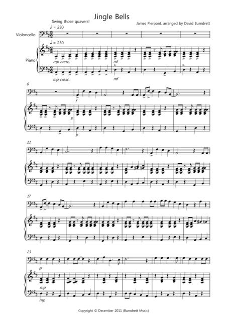 Jingle Bells (Jazzy Style!) for Cello and Piano
