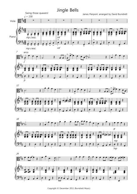 jingle bells viola sheet music
