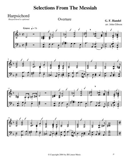 Handel's Messiah Selections for Clarinet and Bassoon Duet