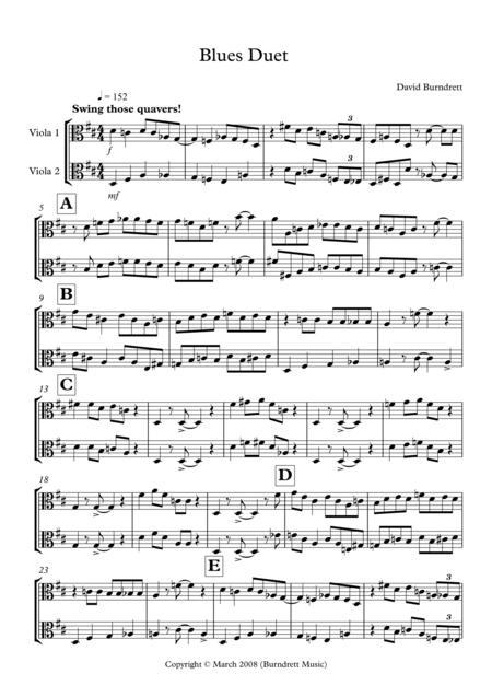Blues Duet for Viola
