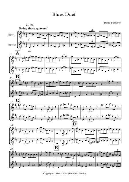 Blues Duet for Flute