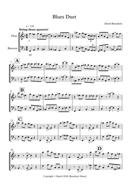 Blues Duet for Flute and Bassoon