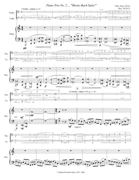 Piano Trio No. 2 ... Shosty-Bach Suite (2012, rev. 2013) piano