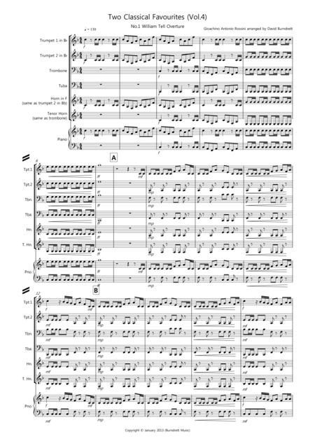 2 Classical Favourites for Brass Quartet (volume four)