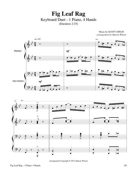 Fig Leaf Rag (1 Piano, 4-Hands Duet)