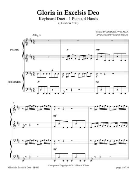 Gloria in Excelsis Deo (1 Piano, 4-Hands)
