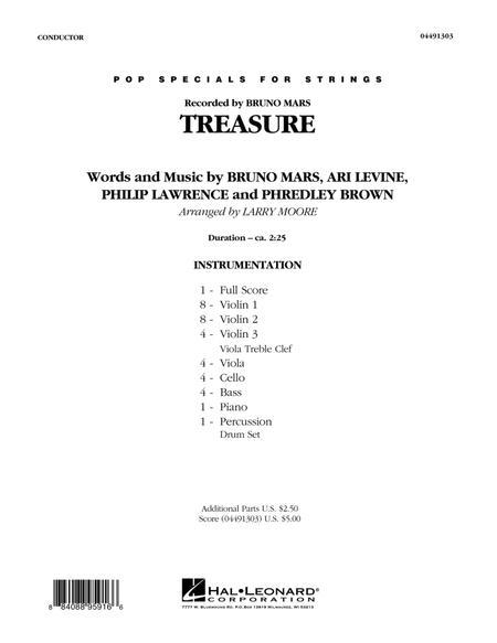 Treasure - Conductor Score (Full Score)