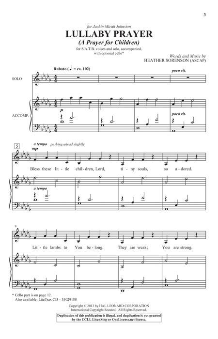 Lullaby Prayer (A Prayer For Children)
