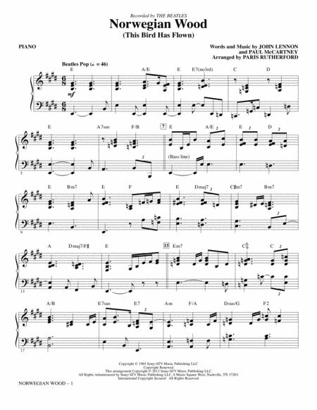 Download Norwegian Wood (This Bird Has Flown) - Piano Sheet Music By ...
