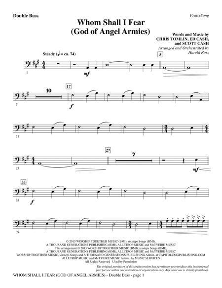 Whom Shall I Fear (God of Angel Armies) - Double Bass