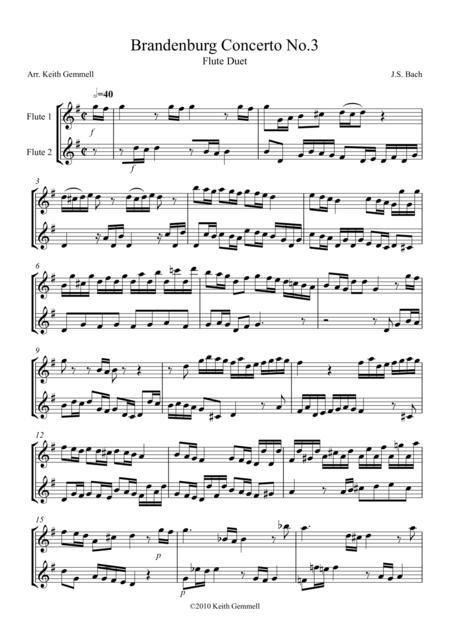 Brandenburg Concerto No. 3: Flute Duet