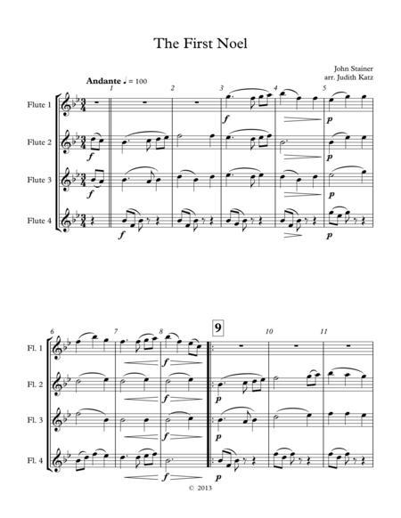 The First Noel - for flute quartet