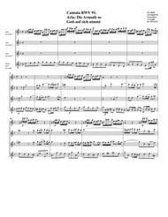 Die Armuth so Gott auf sich nimmt from cantata BWV 91 (Arrangement for 4 recorders)