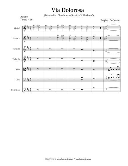 Download Via Dolorosa Sheet Music By Stephen Decesare Sheet Music Plus