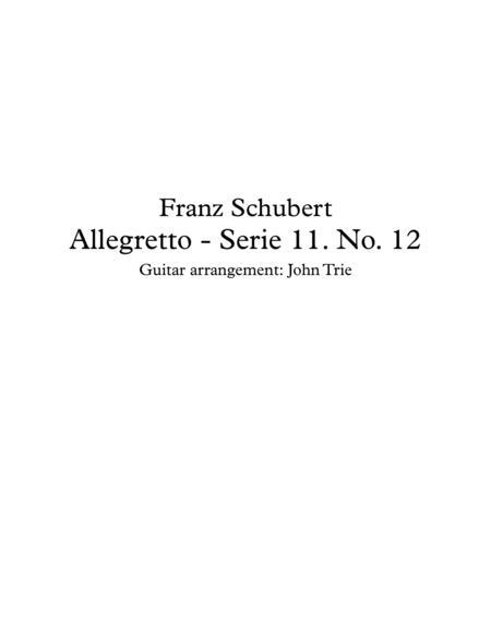 Allegretto - Serie 11, No. 12 - tab