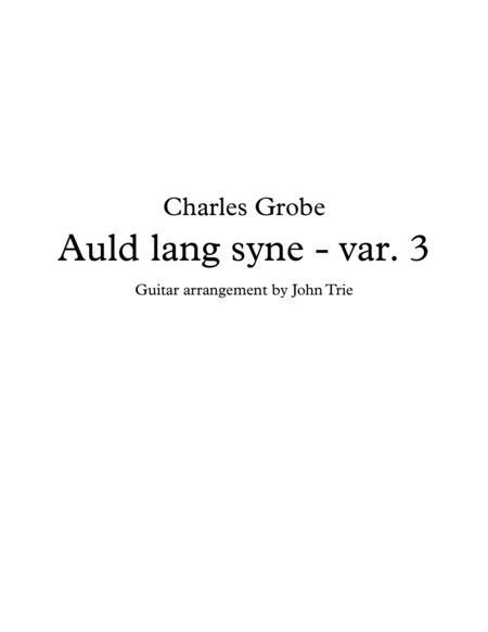 Auld Lang Syne - Variation 3