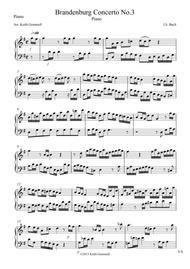 Brandenburg Concerto No. 3: Piano