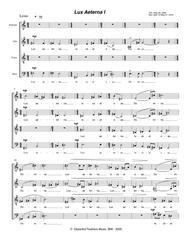 Lux Aeterna I (2000-2010) for SATB a cappella chorus