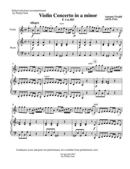 Violin Concerto in a minor F1 #183