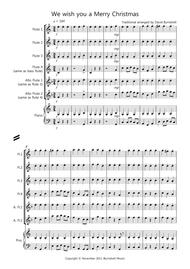 We wish you a Merry christmas for Flute Quartet
