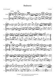 Badinerie – Violin & Cello Duet