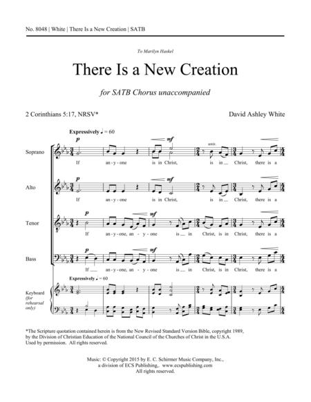 There Is a New Creation