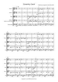 Coventry Carol for String Quartet