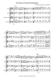 O Come, O Come Emmanuel for Wind Quartet