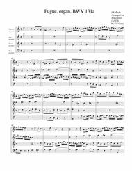 Fugue for organ, BWV 131a (Arrangement for 4 recorders)