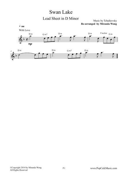 Swan Lake - Lead Sheet in D Minor