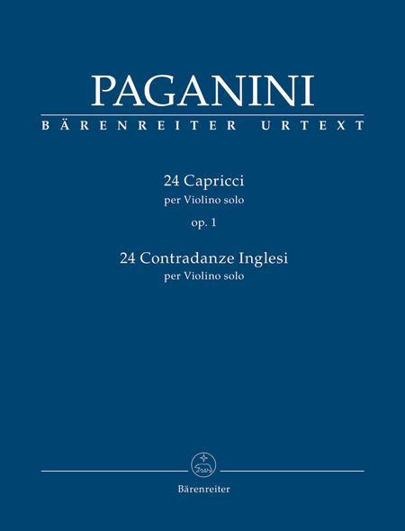 24 Capricci op. 1 / 24 Contradanze Inglesi for Violin solo