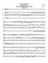 Fughetta super: Diess sind die heil'gen zehn Gebot' BWV 679