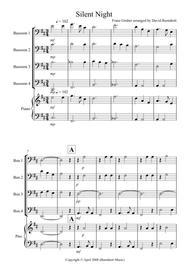 Silent Night for Bassoon Quartet