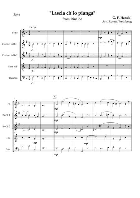 Lascia ch'io pianga, Aria from the opera