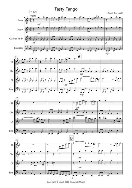 Tasty Tango for Wind Quartet