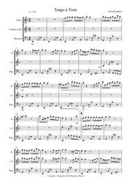 Tango á Trois for Wind Trio