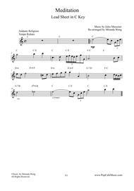 Meditation (from Thais) - Lead Sheet in C Key