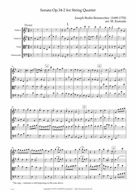 Sonata Op.34-2 for String Quartet