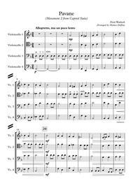 Pavane (Movement 2 from Capriol Suite) [Cello Quartet]